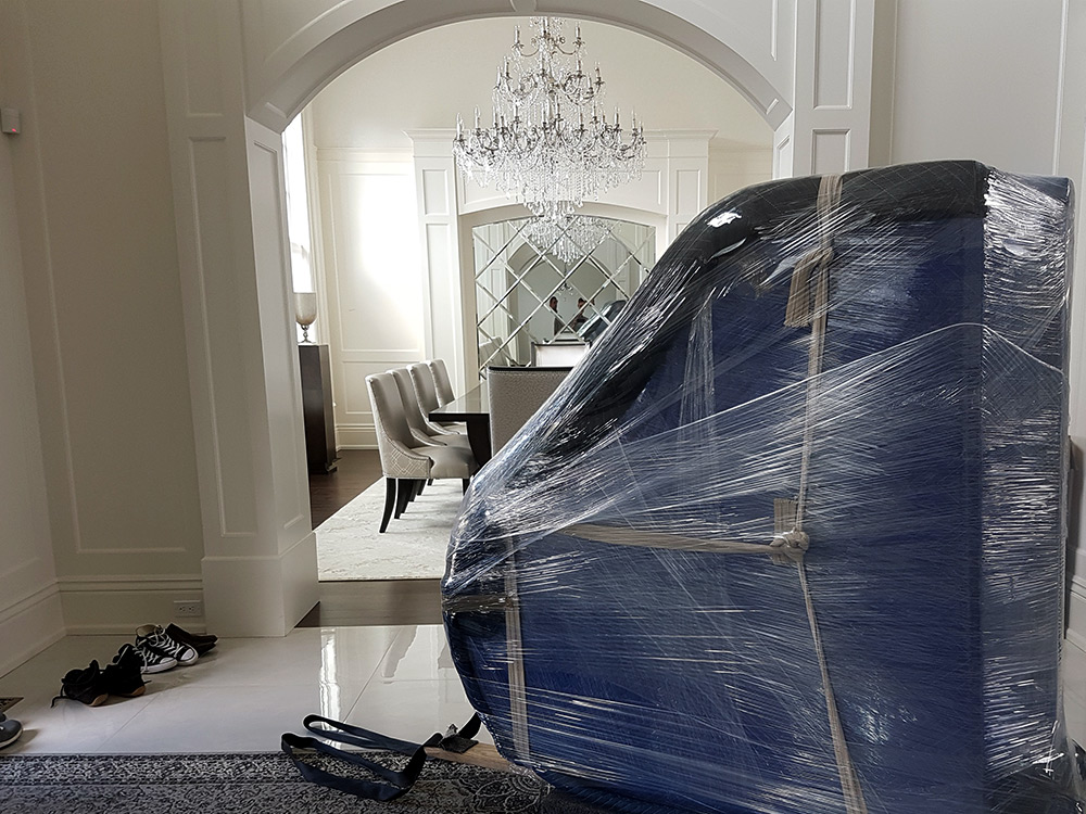 Piano wrapped for move